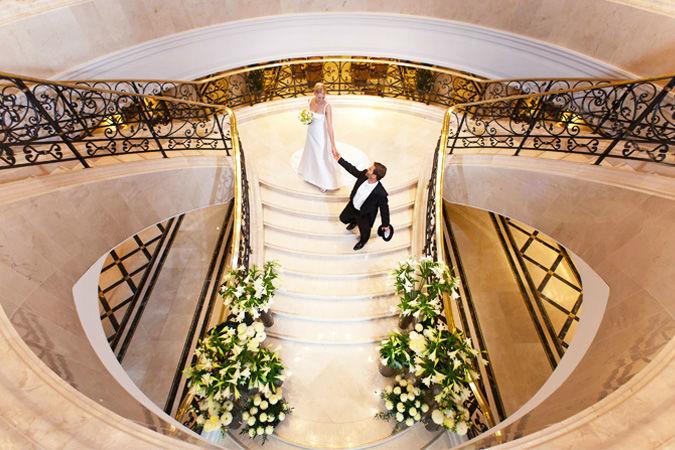 Beispiel: Hochzeitsfloristik, Foto: Marsano Blumen.