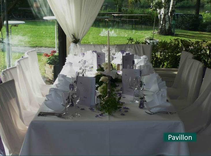 Beispiel: Hochzeitstafel, Foto: Hotel Rheinsberg am See.