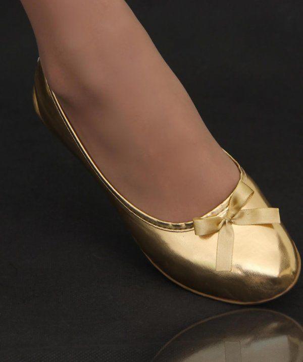 Serie Top Soft Dourado Brilhante com Lacinho de Cetim