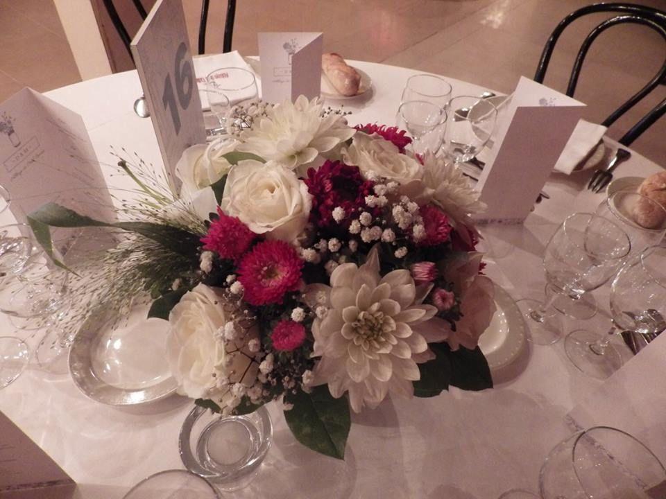 Bouquet rond pour centre de table