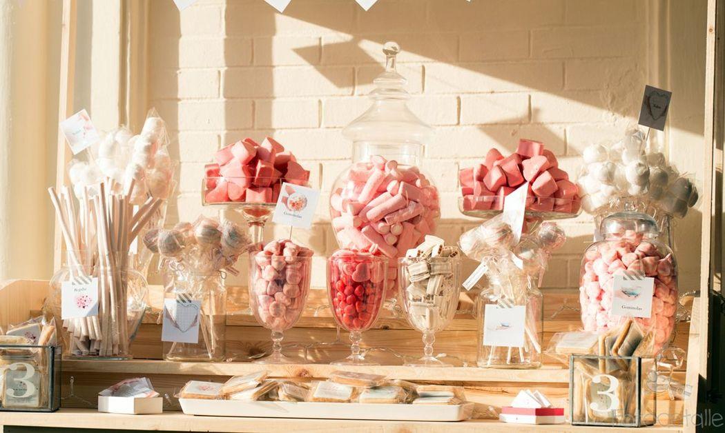 Candy bar tonos pastel