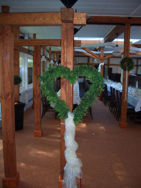 Beispiel: Dekoration zur Hochzeit, Foto: Grunewaldturm.