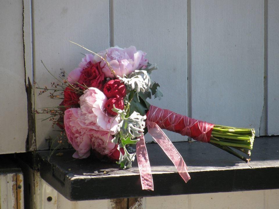 Bouquet de Noiva Peoneas e Rosas