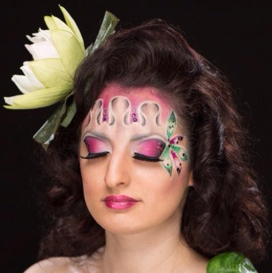 Beispiel: Fantasy Make-up, Foto: Kosmetik Andrea Garburg.