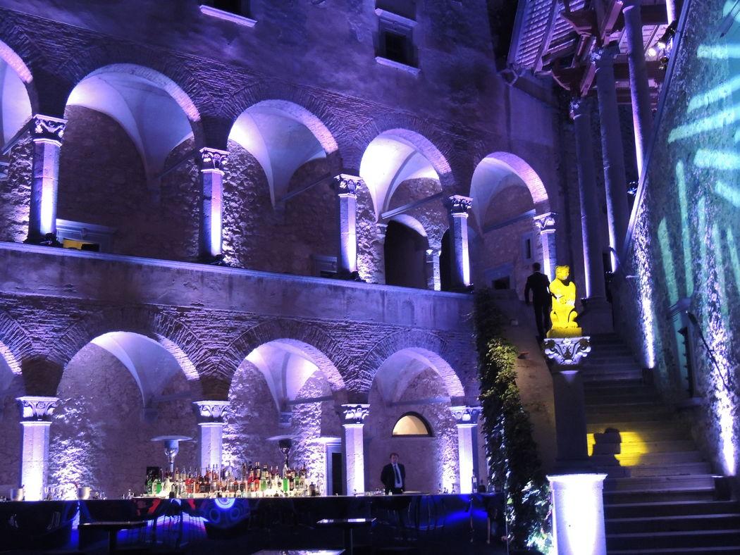 Castello Odescalchi di Bracciano Corte d'Onore per il dopo cena Cort of Honor dfor the after dinner