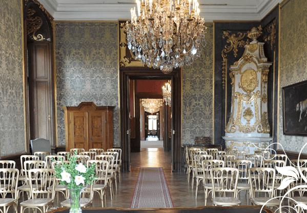 Beispiel: Saal für die Trauung, Foto: Jagdschloss Eckartsau.