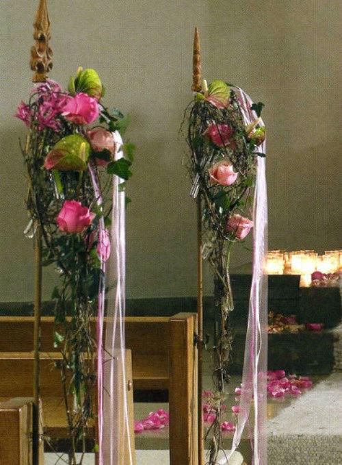 Beispiel: Hochzeitsfloristik, Foto: Florales Ambiente.