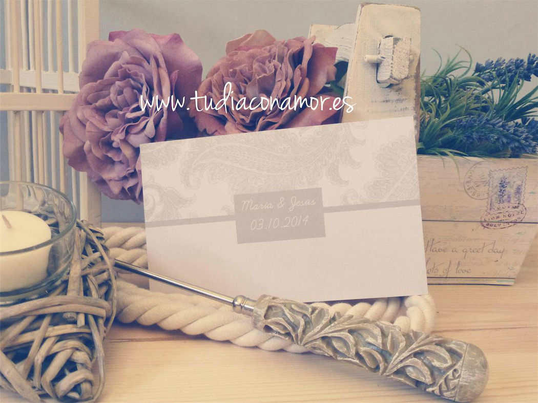 Tarjeta de boda vintage