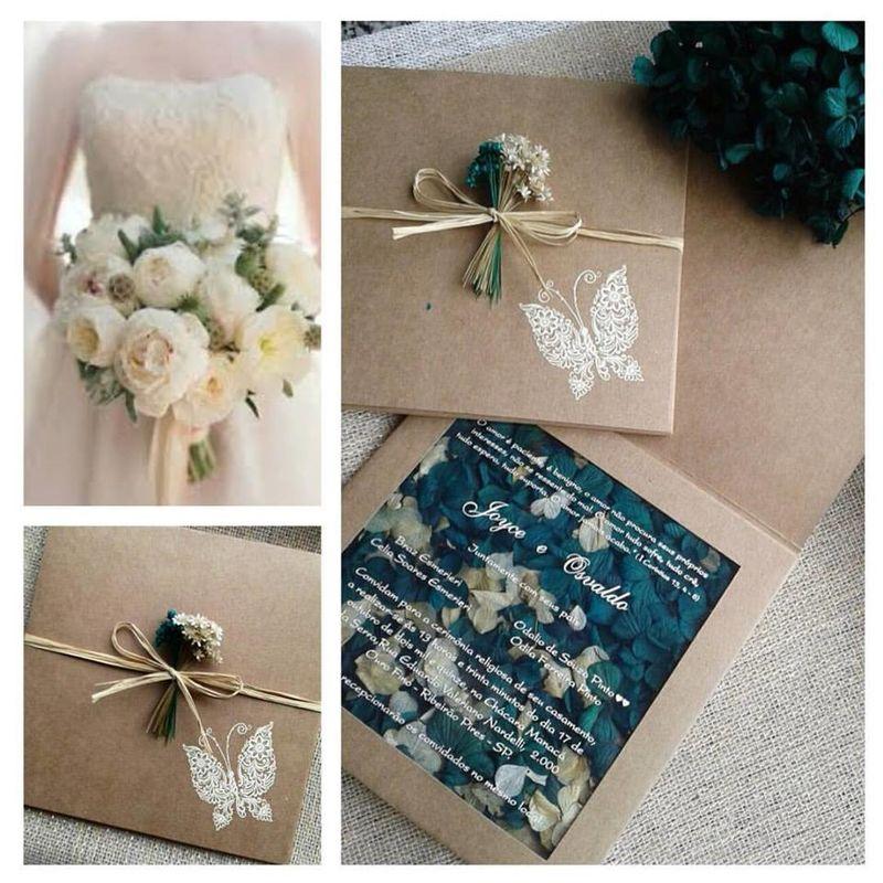 Convite modelo Book Floral
