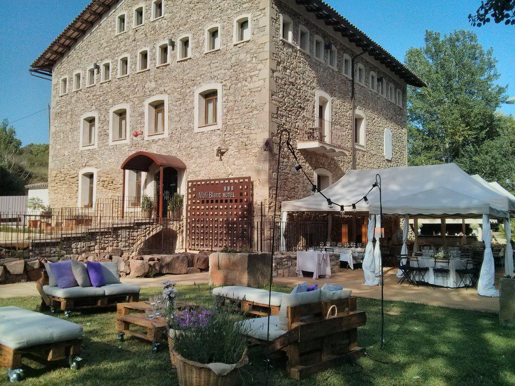 banquete en terraza grande