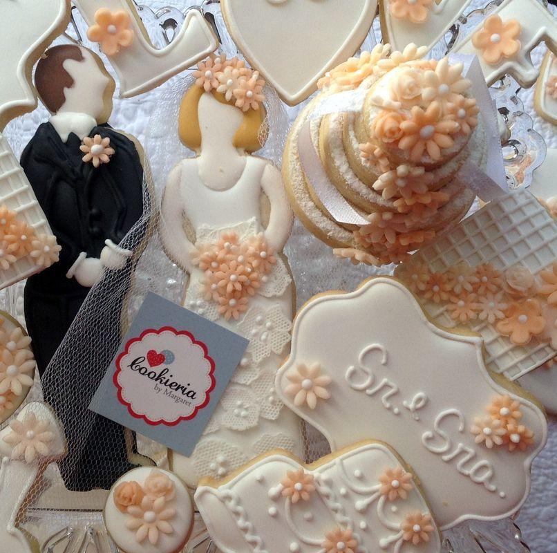 Biscoitos Tema Casamento Tamanhos entre 6 e 15 cm