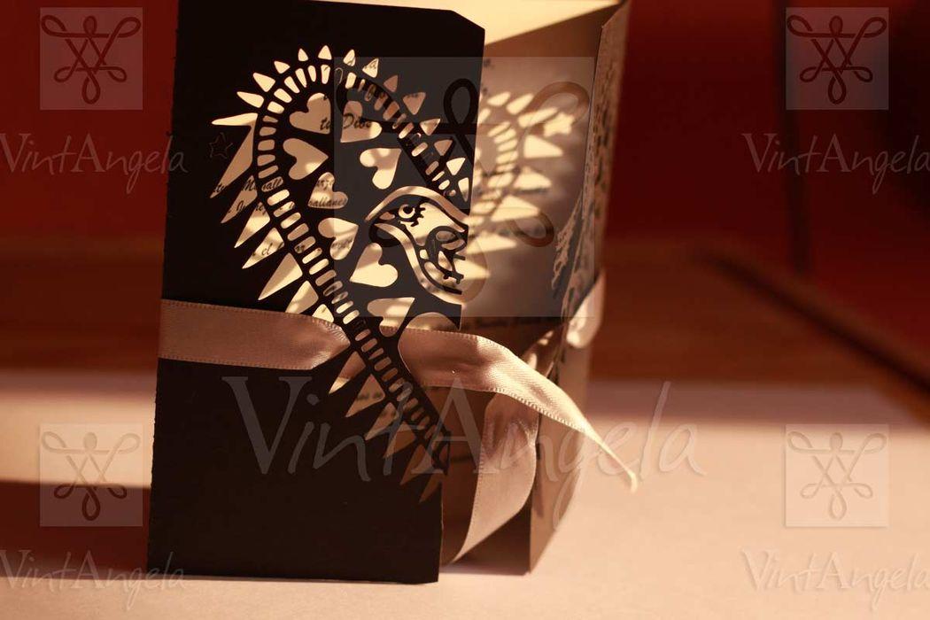 Vintangela: Invitaciones de bodas te presenta este modelo de pajarito calado, ubicados en Cuernavaca pero envian a todo el país.