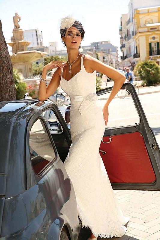 Beispiel: Brautmode Linea Raffaelli, Foto: Silberherz Brautmoden.