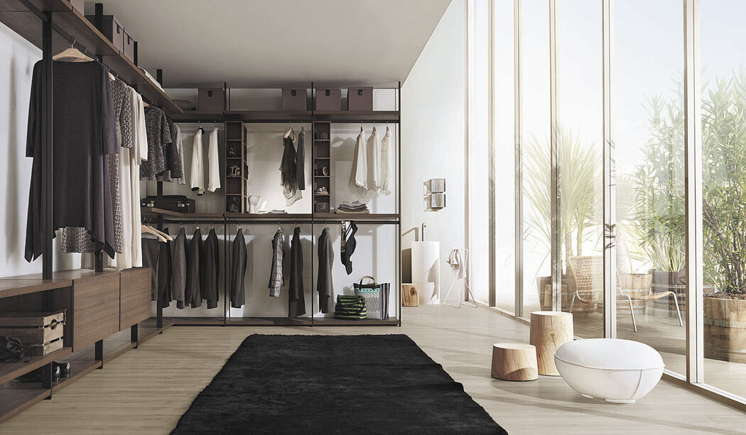 The Hangar closet aims to create a personal space that is beautiful to look at and comfortable, thus shifting the focus from its main function. Hangar is designed to accommodate everyday objects, rationalizing the space, but also favoring the most different ideas about how to organize it.