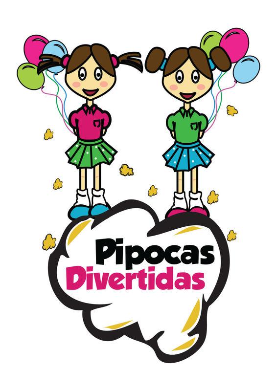 Logotipo das Pipocas Divertidas