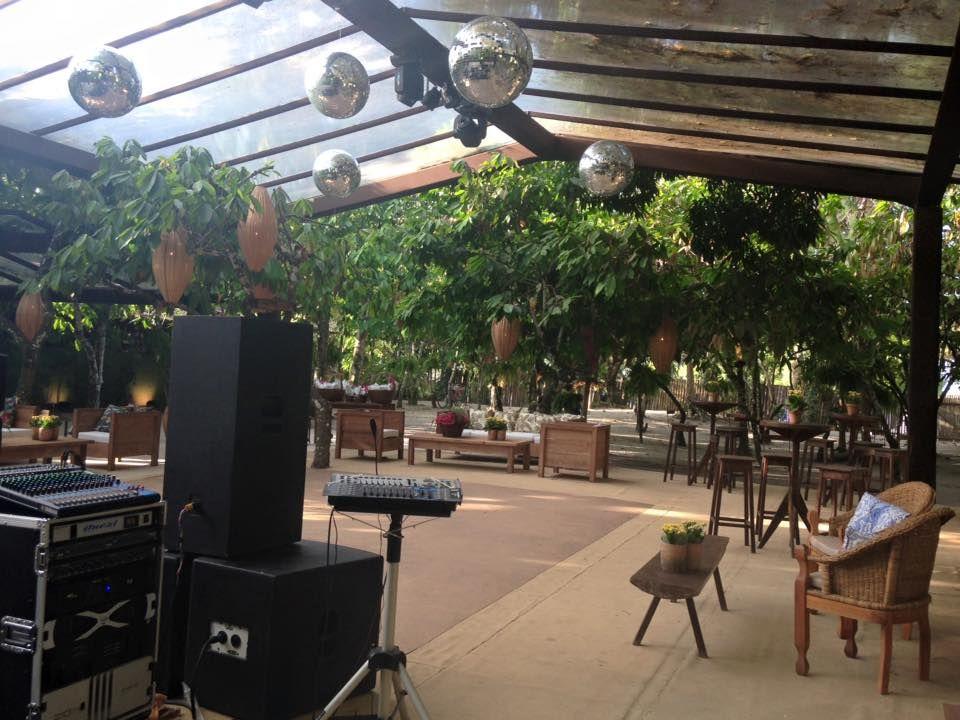 Tenda Construída no Cacau Restaurante Som e Luz