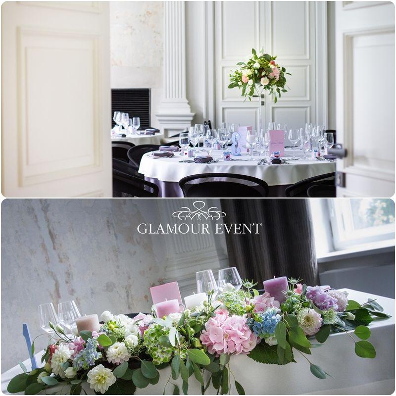 Wesele w kolorach quarz rose & serenity w stylu vintage. fot. Kasia Lis