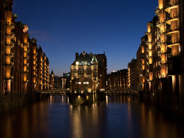 Beispiel: Außensansicht, Foto: Wasserschloss Speicherstadt.