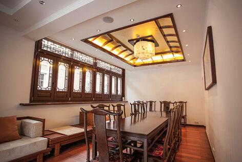 Beispiel: Goldener Raum, Foto: Chinesisches Teehaus Yu Garden.