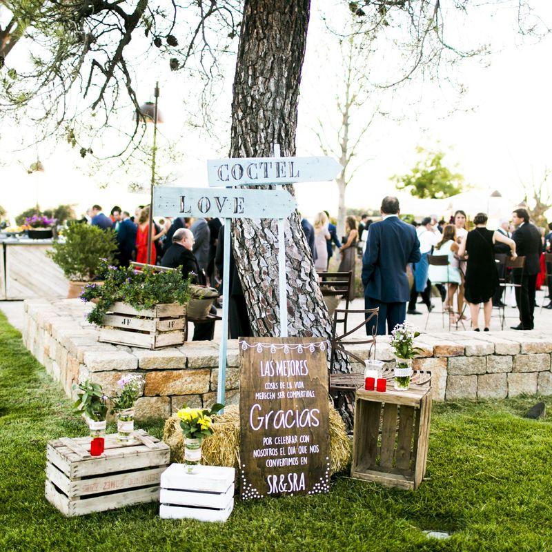 Decoración jardines, cócteles de boda