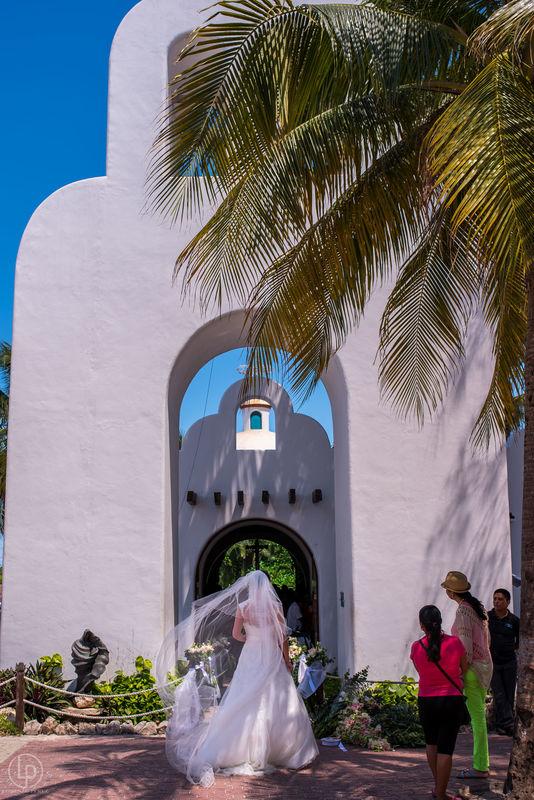 Boda en Playa del Carmen, iglesia de la 5a avenida
