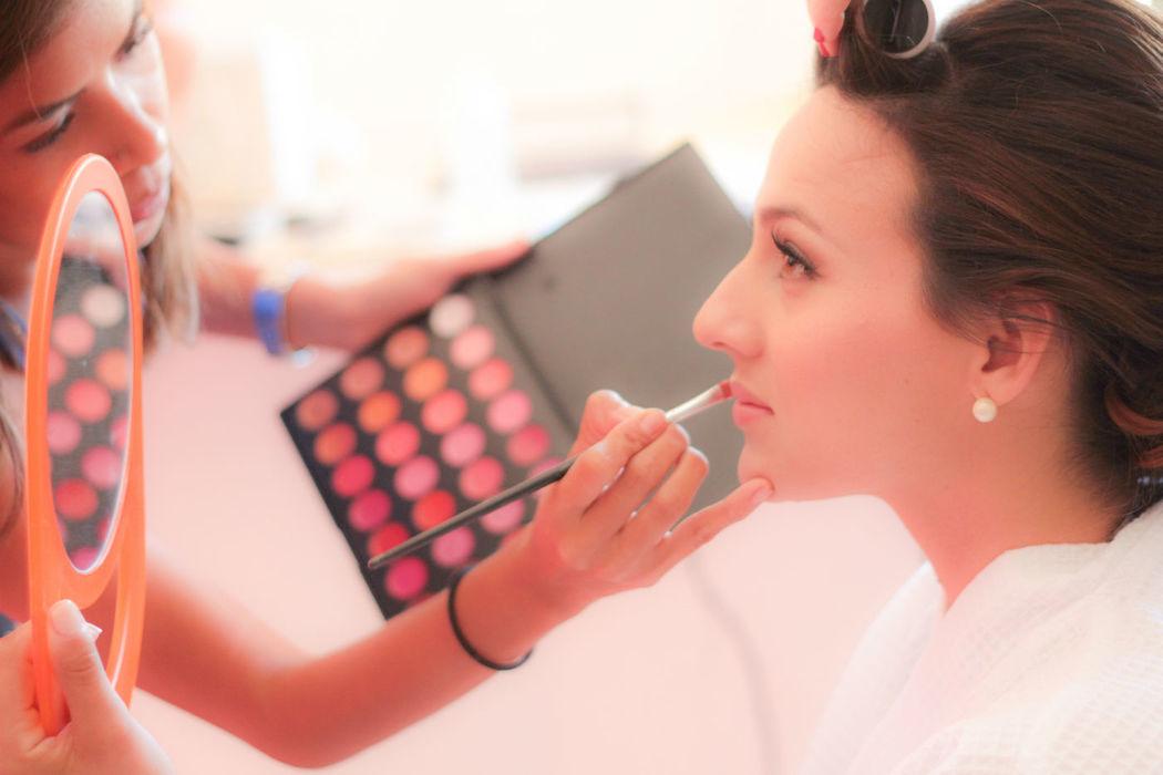 bride makeup session