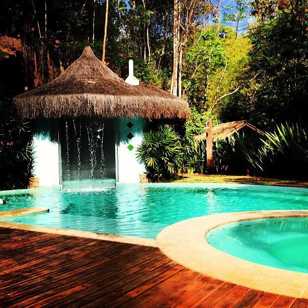 Vila Solaris Pousada e Eventos - piscina climatizada com spa aquecido e sauna a vapor