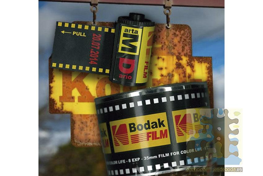 Invitaciones de Boda en carrete de fotos y lata