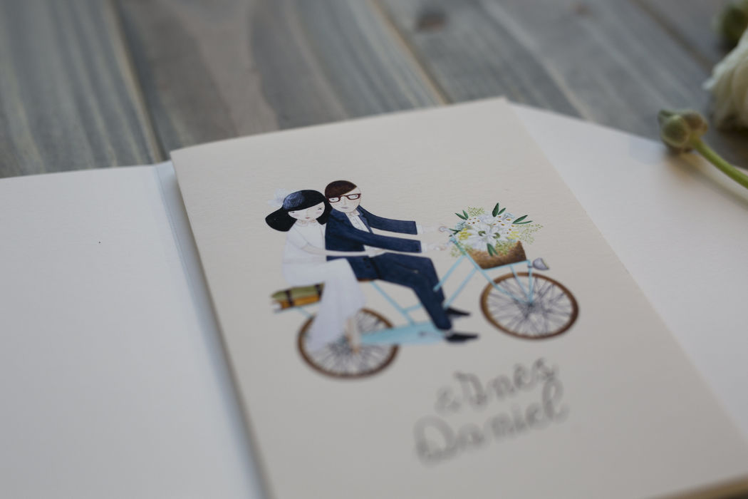 Convite personalizado de casamento
