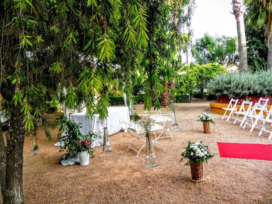 ceremonia en el jardin
