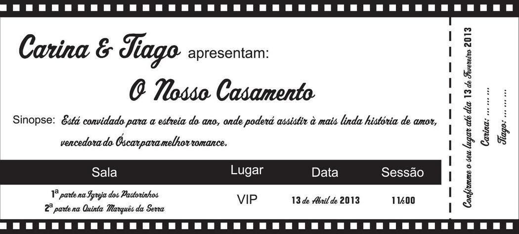Convite Bilhete de Cinema 2