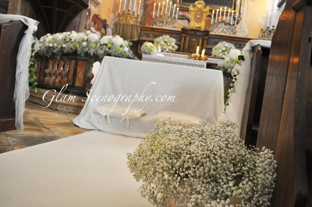 Cerimonia in chiesa. Glam Scenography