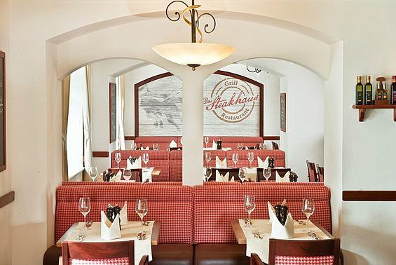 Beispiel: Steakhouse Restaurant, Foto: Travel Charme Kurhaus Binz.