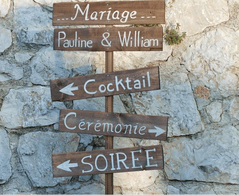 Set de 5 panneaux en bois pour mariage