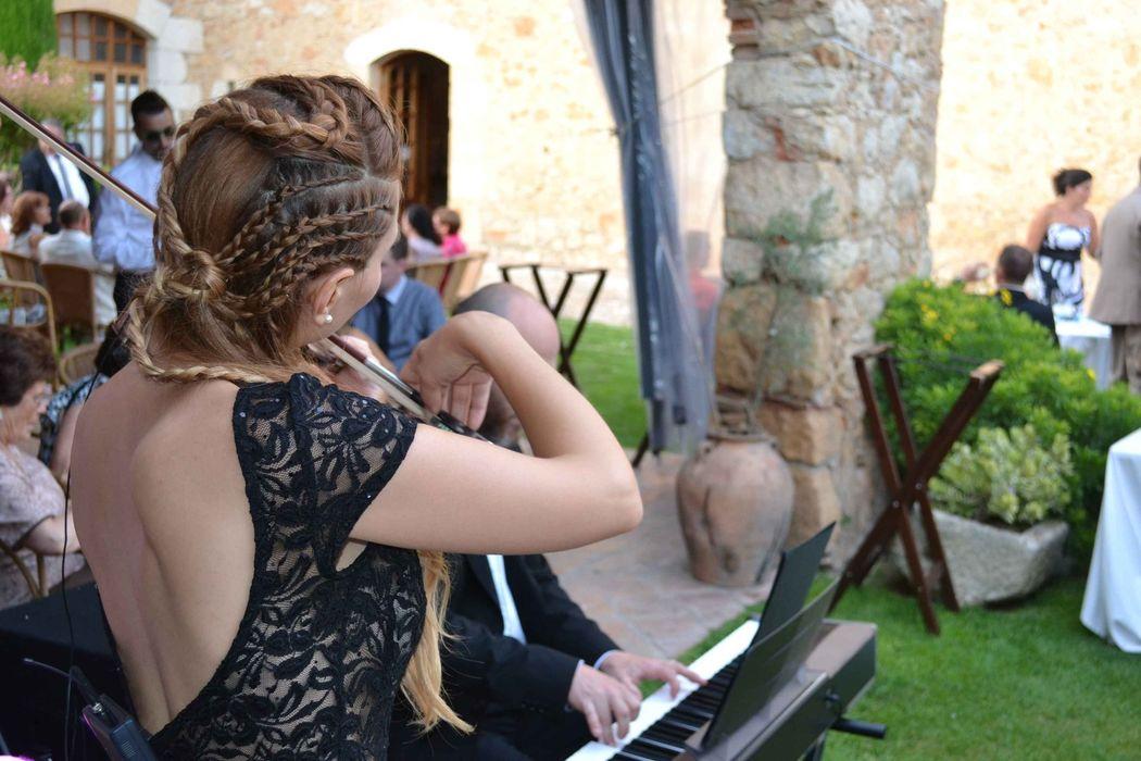 Aperitivo de boda en el restaurant el Molí de L'Escala (Girona)
