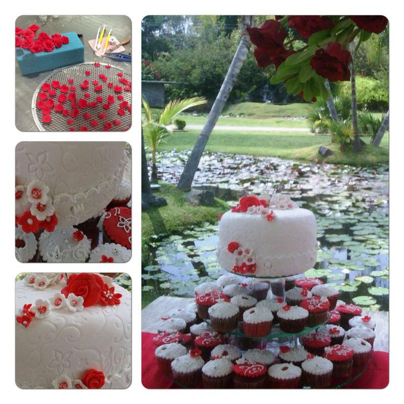 Detalles Pastel en Fondant & Cup Cakes; Ixaya-Huayacan