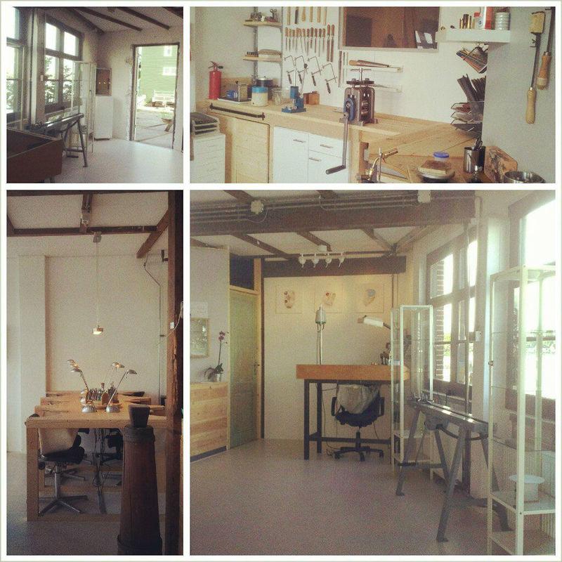Een impressie van Sarah's atelier in Zaandijk.