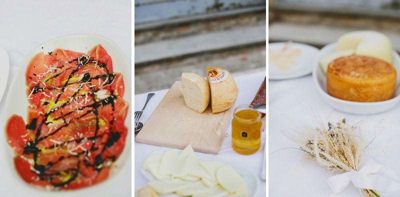 En natuurlijk is er voortreffelijk eten als je in Italië trouwt