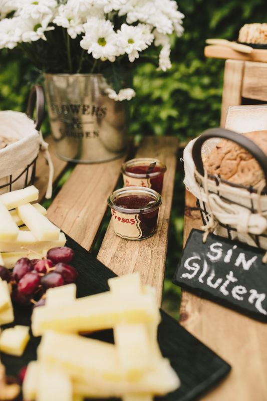 Detalles mesa de quesos