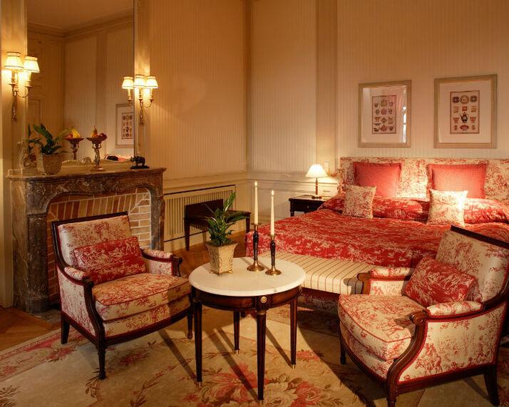 Beispiel: Deluxe-Zimmer, Foto: Villa Rothschild.