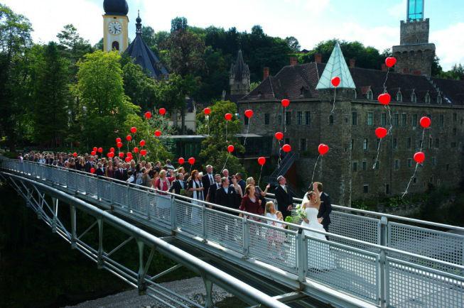 Beispiel: Hochzeitsgesellschaft, Foto: Schlosshotel Eisenstrasse.