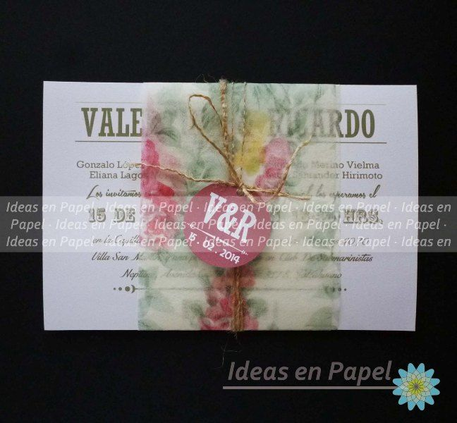 invitaciones rectangulares