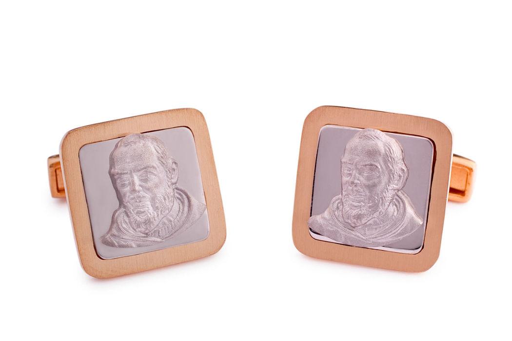 Gemelos plata San Pio