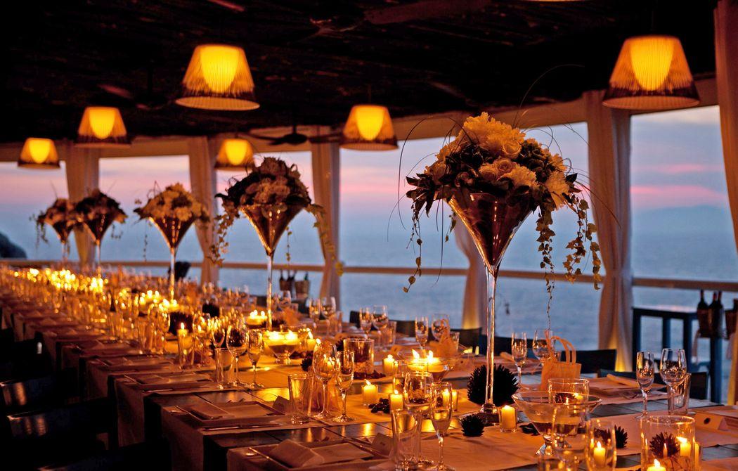Il Riccio Beach Club wedding set up