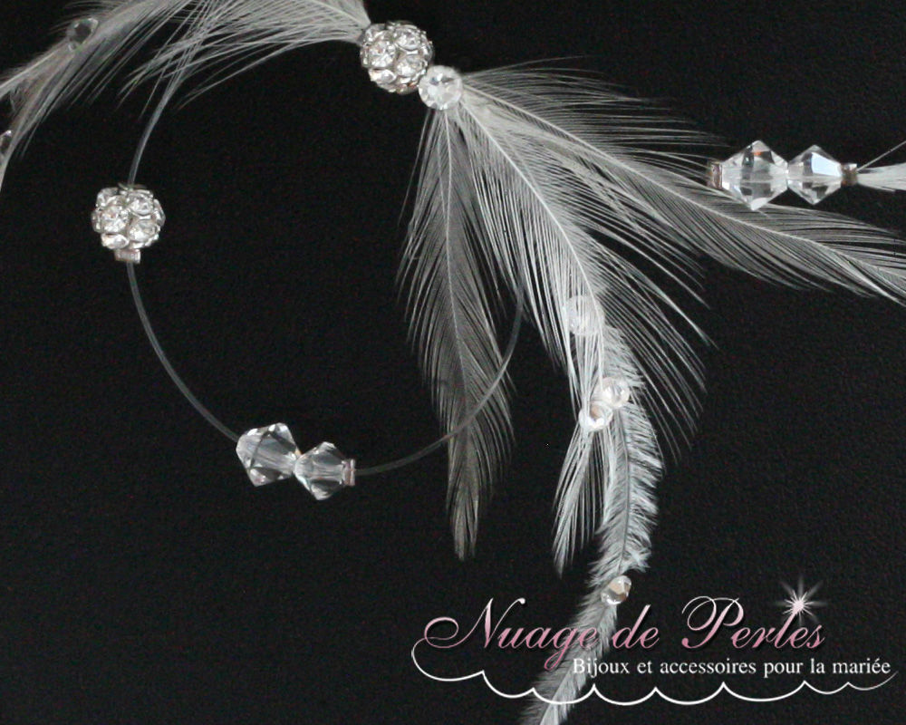 Collier de mariée en plumes
