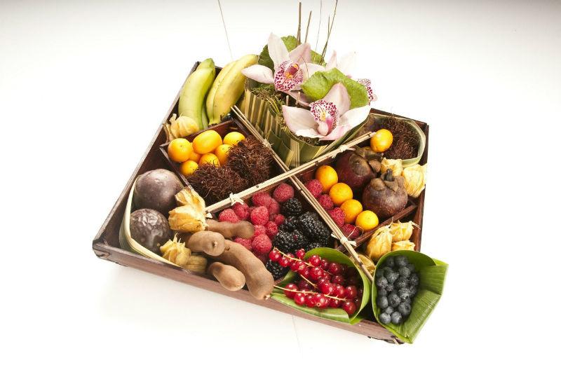 Centros florales y frutales tropicales