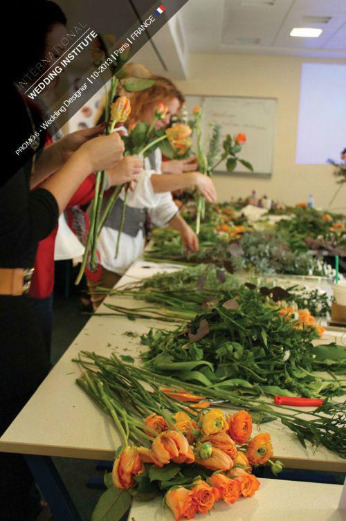 Beispiel: Hochzeitsfloristik, Foto: International Wedding Institute.