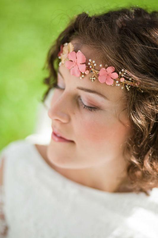 Bandeau floral et romantique  wedding Headband