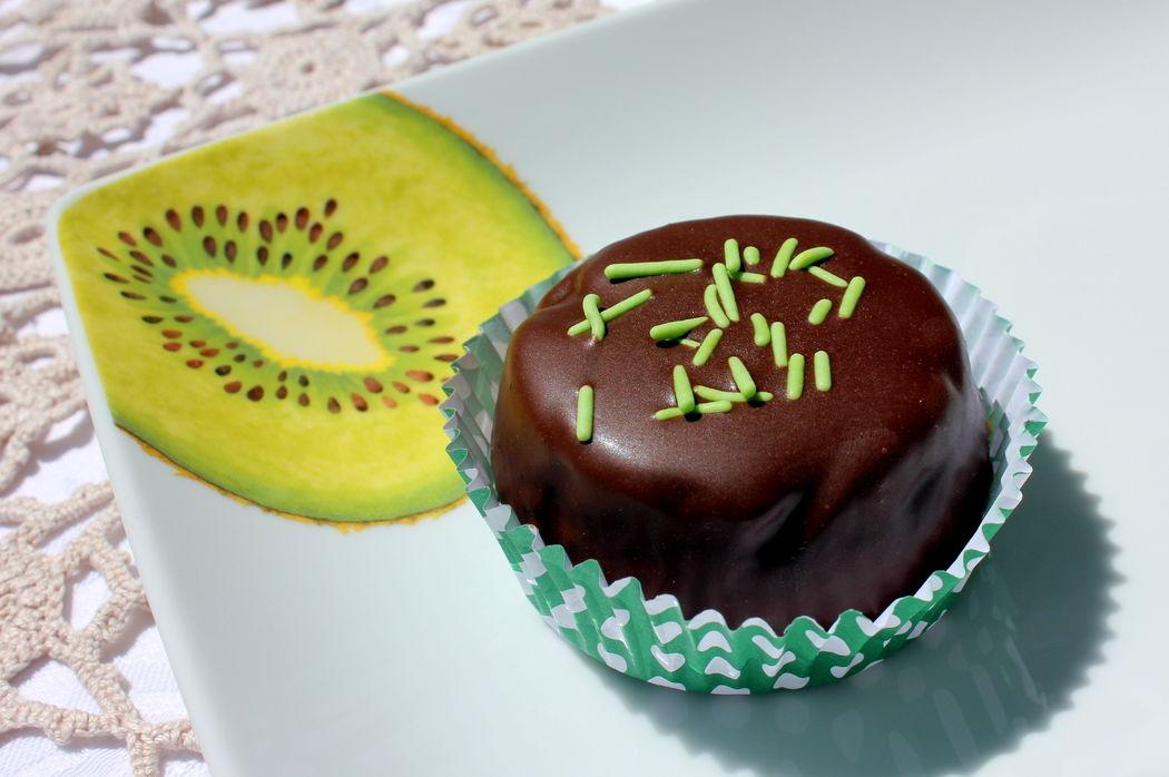 Bomboca com recheio de kiwi
