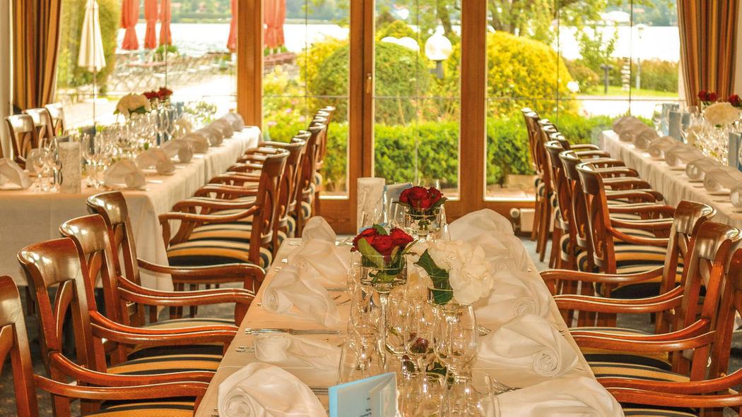 Beispiel: Hochzeitstafel, Foto: Hotel Terrassenhof.